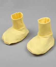 Grandma's Solid Color Booties - Yellow