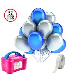 Party Propz 3 in 1 Balloon Pump Party Decoration Combo - Blue White