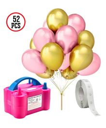 Party Propz 3 in 1 Balloon Pump Party Decoration Combo - Pink Golden