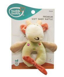 Buddsbuddy Soft Baby Rattle - Yellow