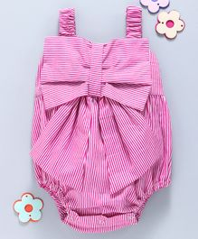 Hugsntugs Striped Sleeveless Onesie - Pink