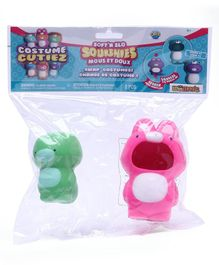 Soft'n Slo Squishies Costume Cuties Ultra Pink Green - Pack Of 2