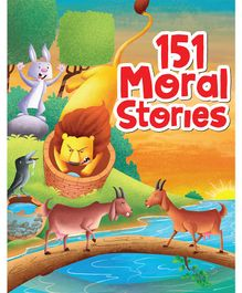 151 Moral Stories Padded & Glittered Book - English