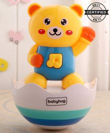Babyhug Bear Roly Poly Toy - Yellow