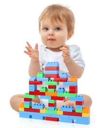 Babyhug Building Block Set Multicolor - 100 Pieces