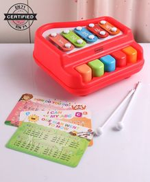 Babyhug 2 in 1 Xylophone Cum Piano - Red