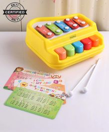 Babyhug 2 in 1 Xylophone Cum Piano - Yellow