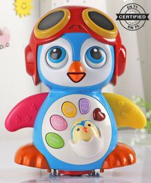 Babyhug 3 in 1 Bump and Go Penguin Toy - Color May Vary