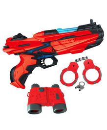 Toyshine Long Range Razor Toy Blaster Gun With 6 Foam Bullets - Red