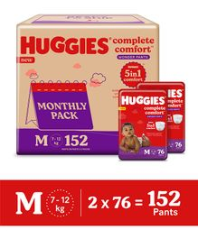 Huggies Wonder Pants Diaper Monthly Pack Medium Size - 152 Pieces