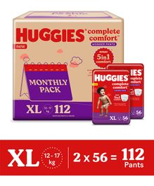 Huggies Wonder Pants Diaper Monthly Pack Extra Large Size - 112 Pieces