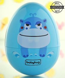 Babyhug Eggzy Roly Poly Toy Hippo Face - Blue