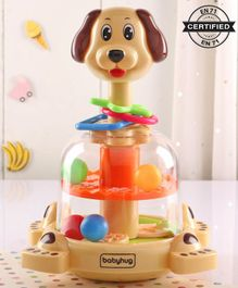Babyhug Press & Spin Dog Toy - Orange Cream
