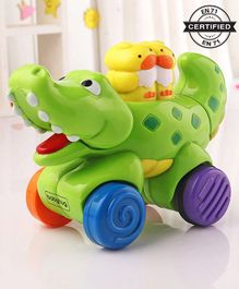 Babyhug Press & Go Crocodile Toy - Multicolor