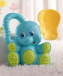 Babyhug Elephant Toy Rattle Blue - Length 12 cm