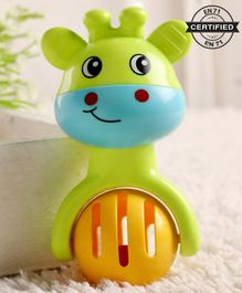 Babyhug Giraffe Ball Toy Rattle Green - Length 12 cm