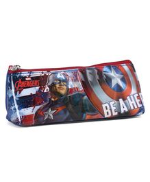 Marvel Avengers Rectangular Pencil Pouch - Blue and Red