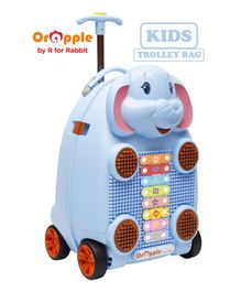 Orapple By R For Rabbit Trolley Luggage Bag With Xylophone Elephant Design