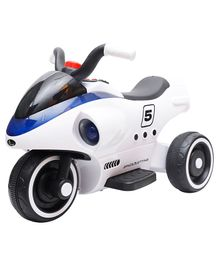 R for Rabbit Apollo Space Ship Inspired Battery Operated Bike - White