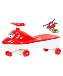 R for Rabbit Super Wings Swing Car - Red