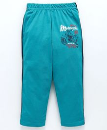 Doreme Full Length Pajama Motorcycle Print - Sea Green