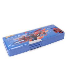 Marvel Spider Man Dual Compartment Magnetic Pencil Box - Blue