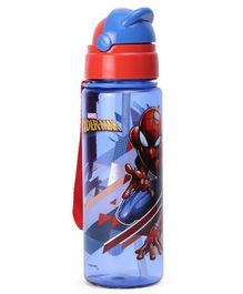 Marvel Spider Man Sipper Water Bottle Red & Blue - 400 ml