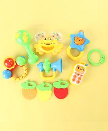 Baby Rattle Set of 10 - Multicolour