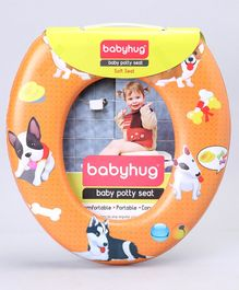 Babyhug Soft Cushioned Potty Seat Puppy Print - Orange