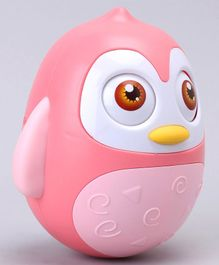 Roly Poly Penguin Toy - Pink