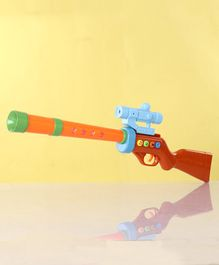Forest Shotgun Toy With Flashing Lights - Orange & Brown