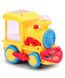 Toy Train With Lights & Tiny Balls - Yellow Red