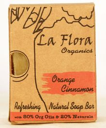 La Flora Organics Orange Cinnamon Tangy Handmade Soap Bar - 100 gms