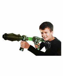 Planet of Toys Air Power Popper Blast Gun With 20 Foam Ball and 6 Plastic Glasses - Green
