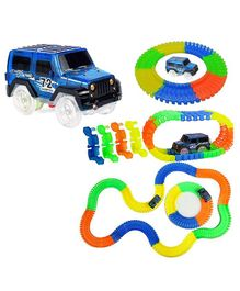 Planet of Toys Magic Glow in the Dark Car Track Set Multicolour - 220 Pieces
