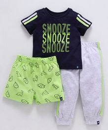 Babyoye Night Suit Combo Of 3 - Navy