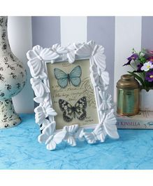 Quirky Monkey Butterfly Photo Frame - White