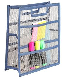 My Gift Booth Mesh Stationary Pouch - Blue