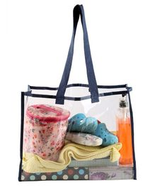 My Gift Booth Transparent Shoulder Bag - Navy Blue