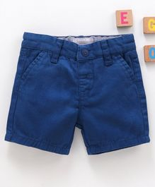 LC Waikiki Knee Length Solid Shorts - Light Navy Blue