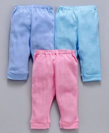 Zero Solid Lounge Pants Pack of 3 - Blue Pink