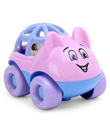 Baby Car Shaped Rattle - Blue Pink