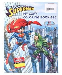 Imagician Playthings Jumbo Superman Colouring Book - Blue (Design May Vary)