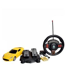Magic Pitara Speed King RC Car With Charger & Foot Accelerator - Yellow
