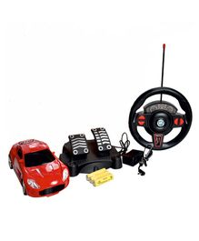 Magic Pitara Speed King RC Car With Charger & Foot Accelerator - Red