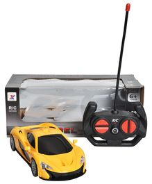 Magic Pitara Remote Control Car With LED Light - Yellow