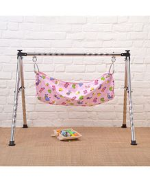JIN Semi Foldable Cradle With Round Frame - Multicolor