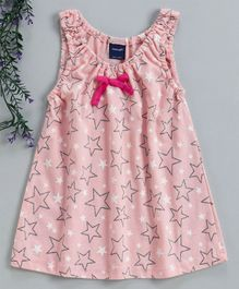 Mabaojd Sleeveless Frock Star Print - Light Pink
