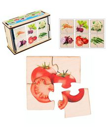 RK Cart Plywood Vegetable Jigsaw Puzzle Multicolor - 24 pieces