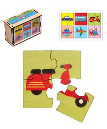 RK Cart Plywood Transport Jigsaw Puzzle Multicolor - 24 Pieces